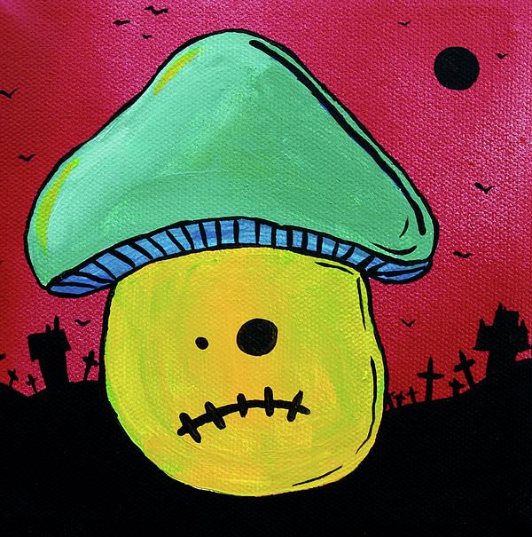 Zombie Mushroom 1 Print by Jera Sky