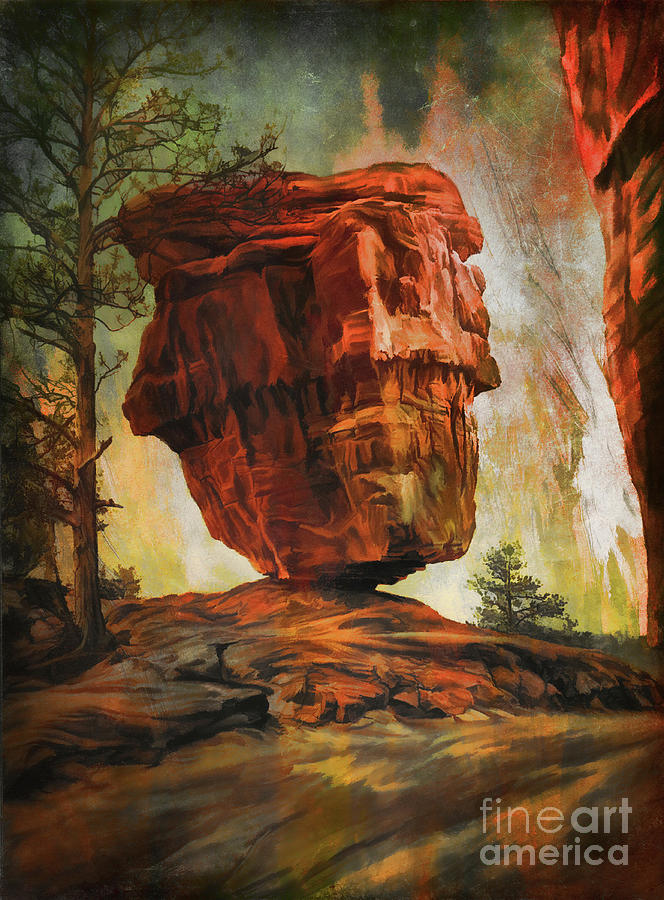 Rock Digital Art -  Balanced Rock  by Andrzej Szczerski