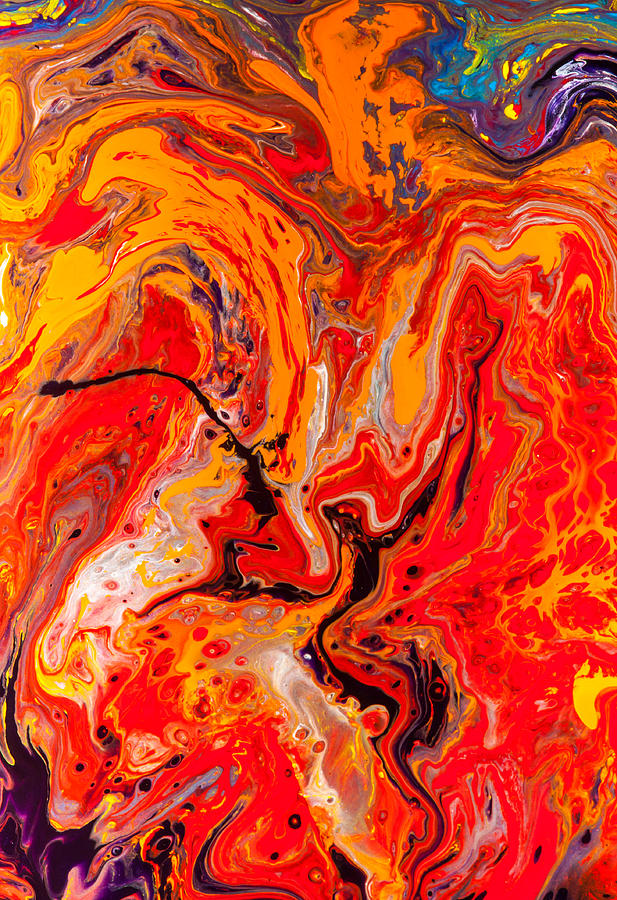 Belly Dancers - Abstract Colorful Mixed Media Painting ...
