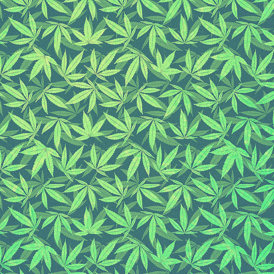 Cannabis hemp 420 marijuana pattern digital art by philipp for Design patterns for pot painting