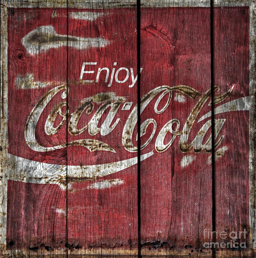 Coca Cola Sign Barn Wood Photograph