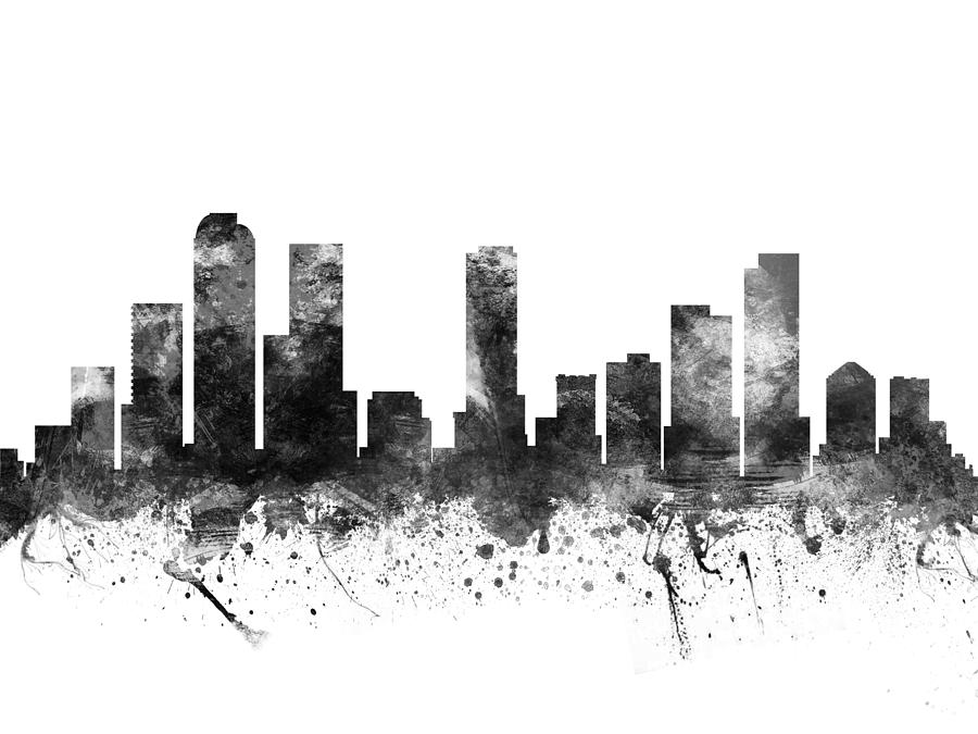Denver Colorado Cityscape 02bw Drawing By Aged Pixel