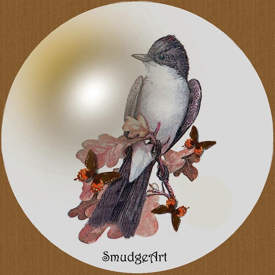 #0397 Eastern Kingbird Digital Art -  Eastern Kingbird by Madeline  Allen - SmudgeArt