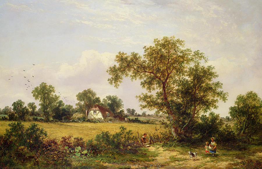 Essex Painting -  Essex Landscape  by James Edwin Meadows
