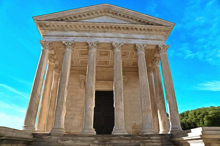 Maison carree nimes france photograph by scott carruthers - Maison carree nimes ...