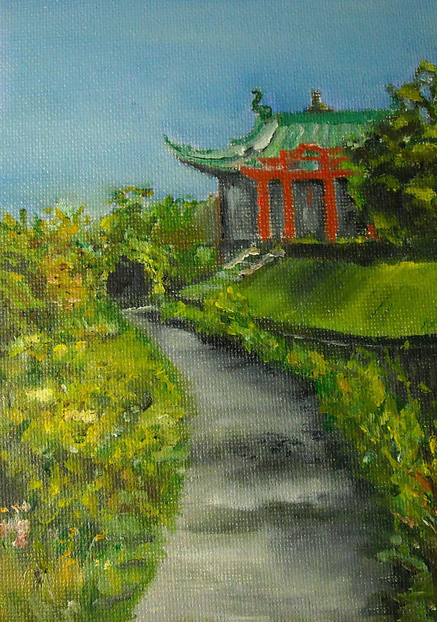 Newport Rhode Island Japanese Tea House At Marble House Newport Rhode Island Painting By Nancy