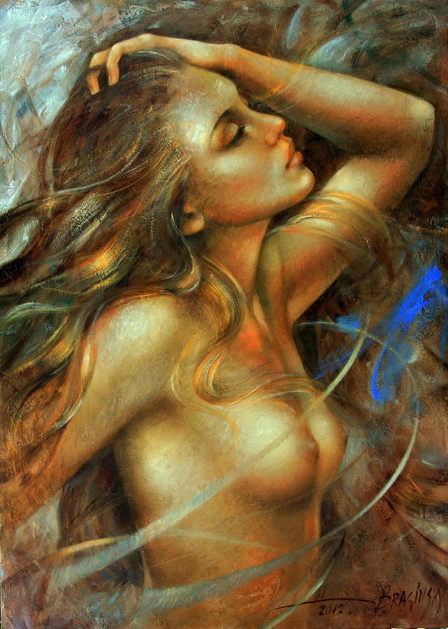 Nude Painting -  Nuda by Arthur Braginsky