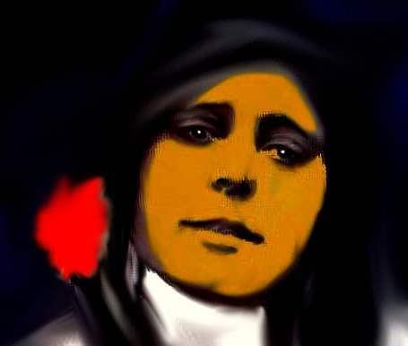 Portrait Digital Art -  Spiritual Guest by Carmen Cordova