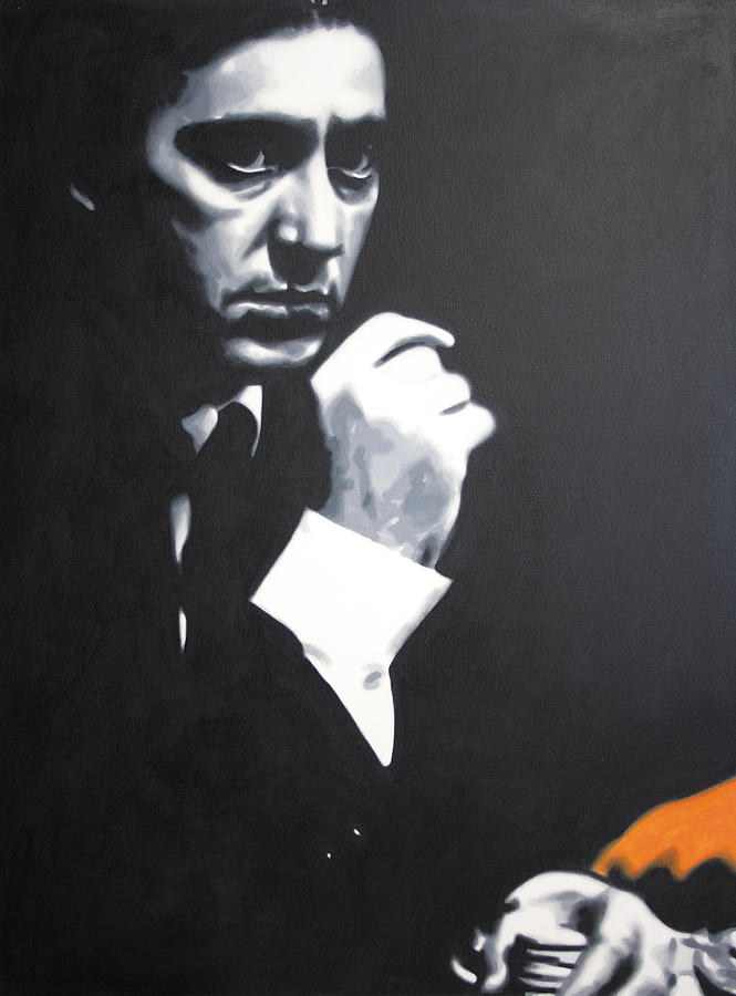 The Godfather Painting - - The Godfather - by Luis Ludzska