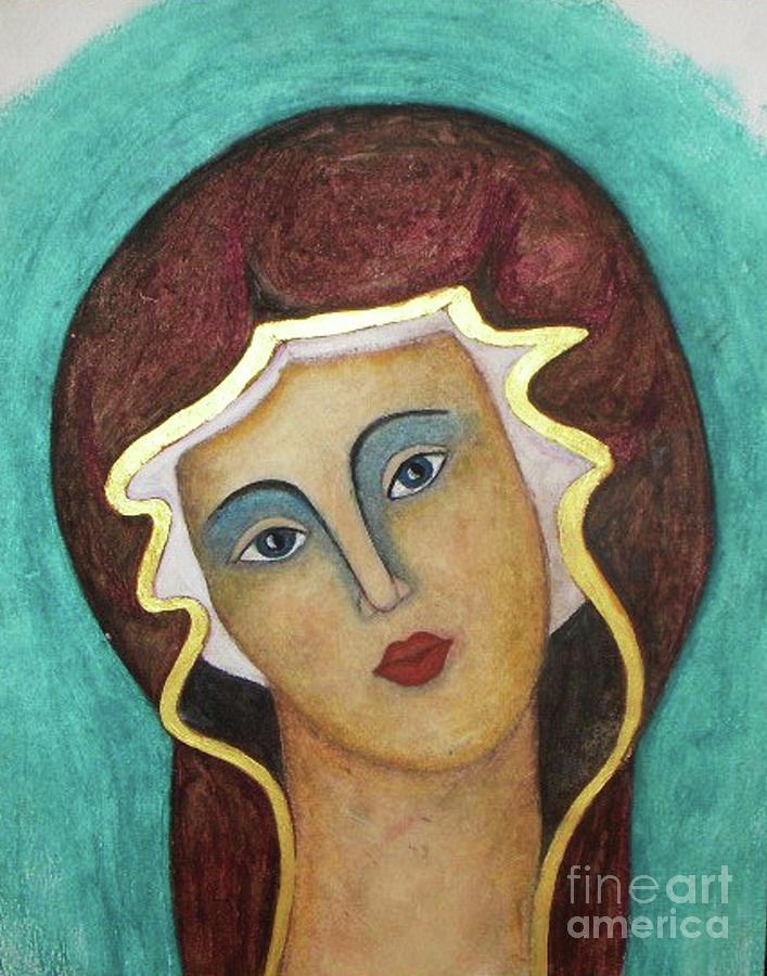 Virgin Mary Painting -  Virgin Mary by Vesna Antic