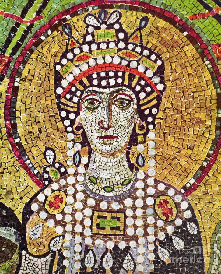 6th Century Painting - Theodora (c508-548) by Granger