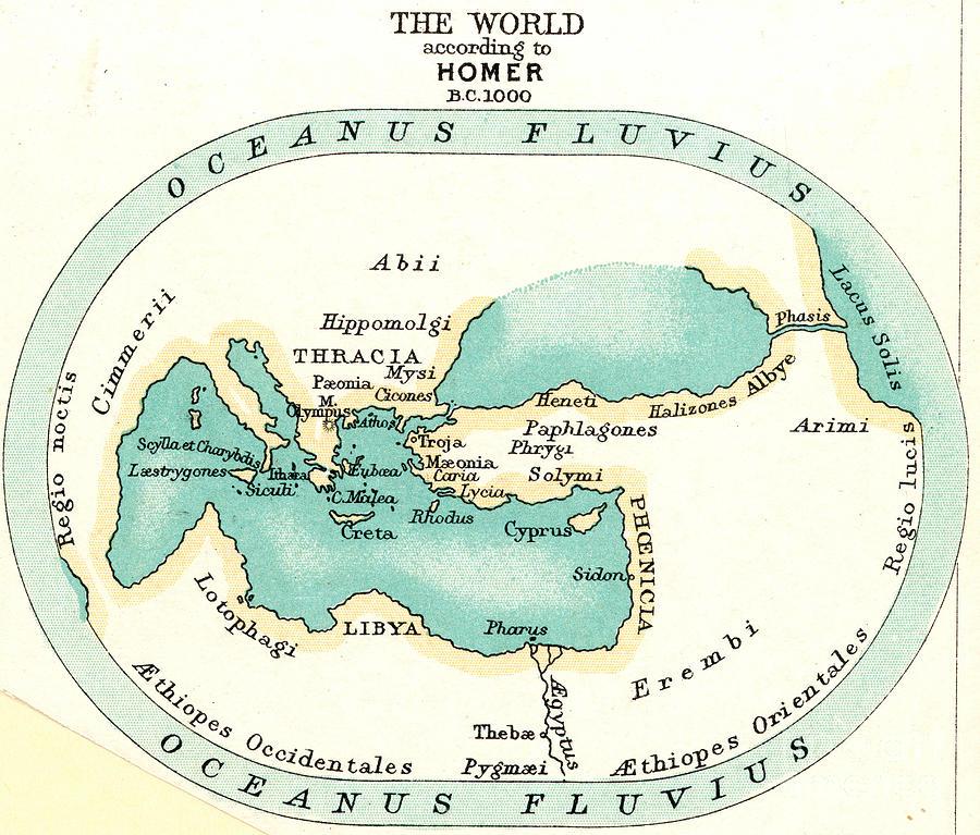 1000 B.c. Painting - World Map, C1000 B.c by Granger