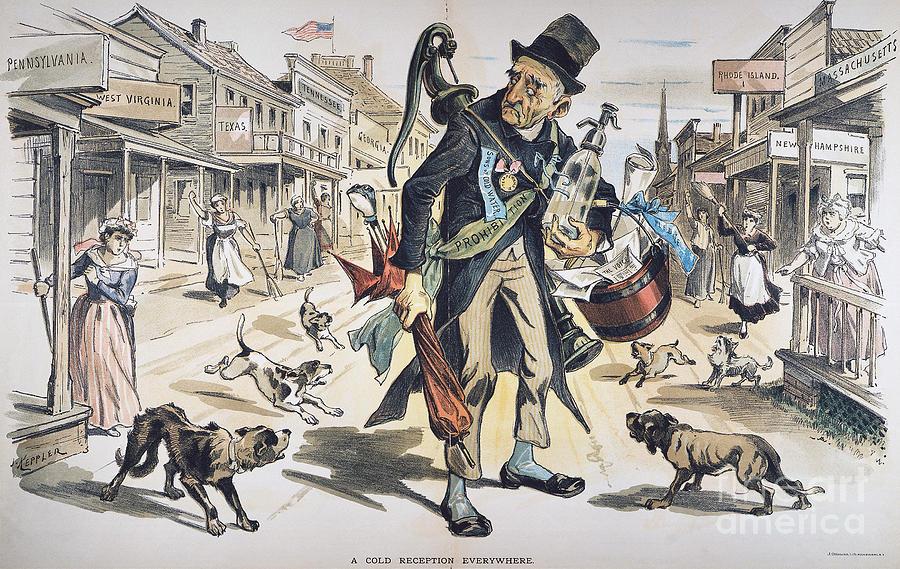Prohibition  Cartoon, 1889 Painting
