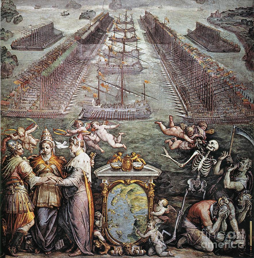 1571 Painting - Battle Of Lepanto, 1571 by Granger
