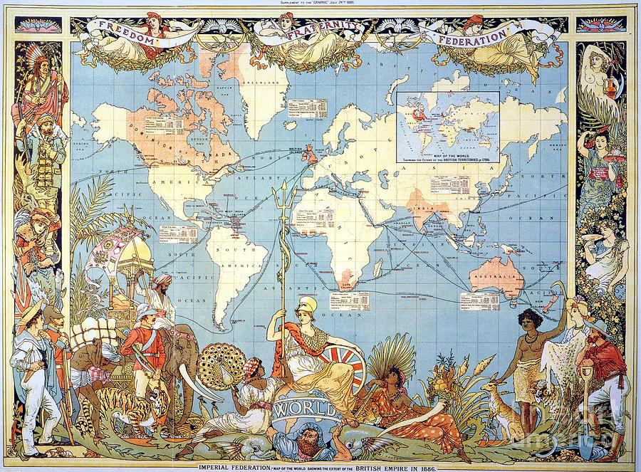 Map: British Empire, 1886 Painting