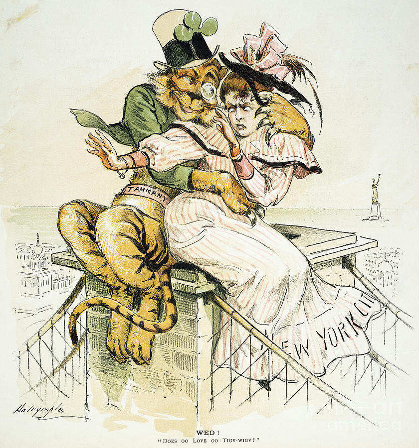 1893 Painting - Political Cartoon by Granger