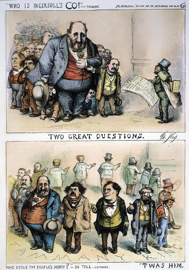1871 Painting - Nast: Tweed Corruption by Granger