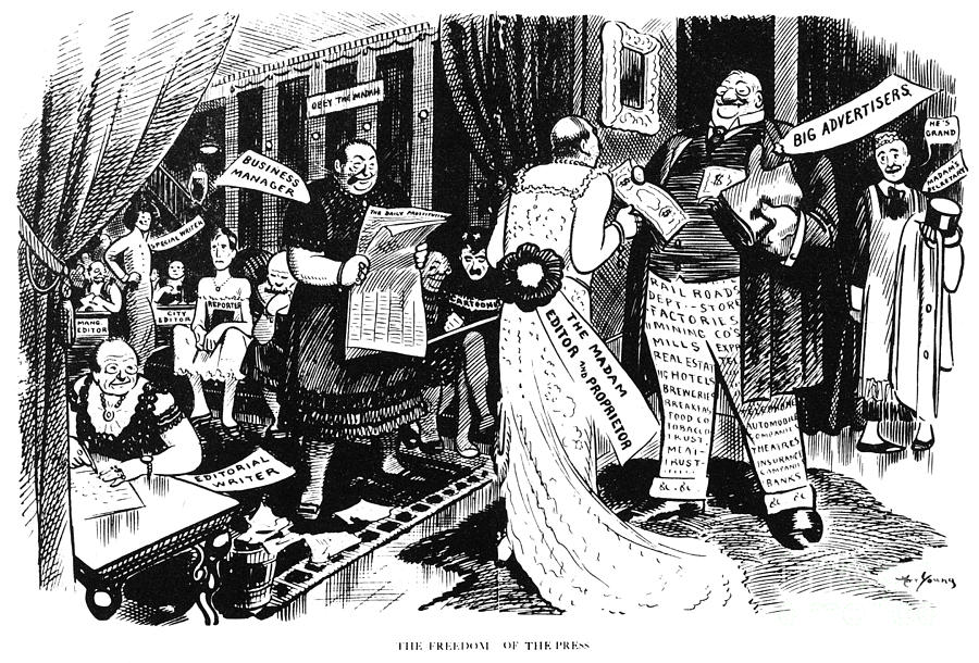 Press Cartoon, 1912 Painting