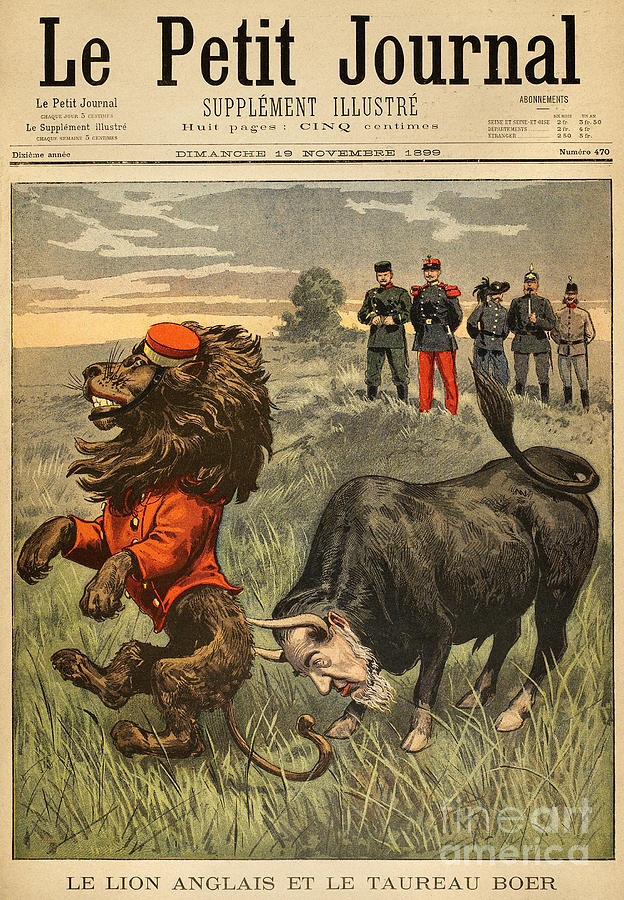 Boer War Cartoon, 1899 Painting