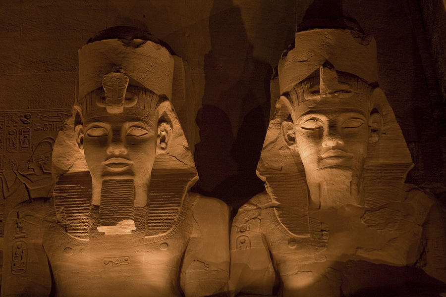 Abu Simbel Photograph - A Close View Of Ramses IIs Temple by Taylor S. Kennedy