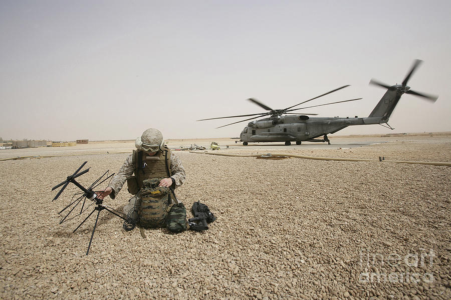 Iraq Photograph - A Field Radio Operator Sets by Stocktrek Images