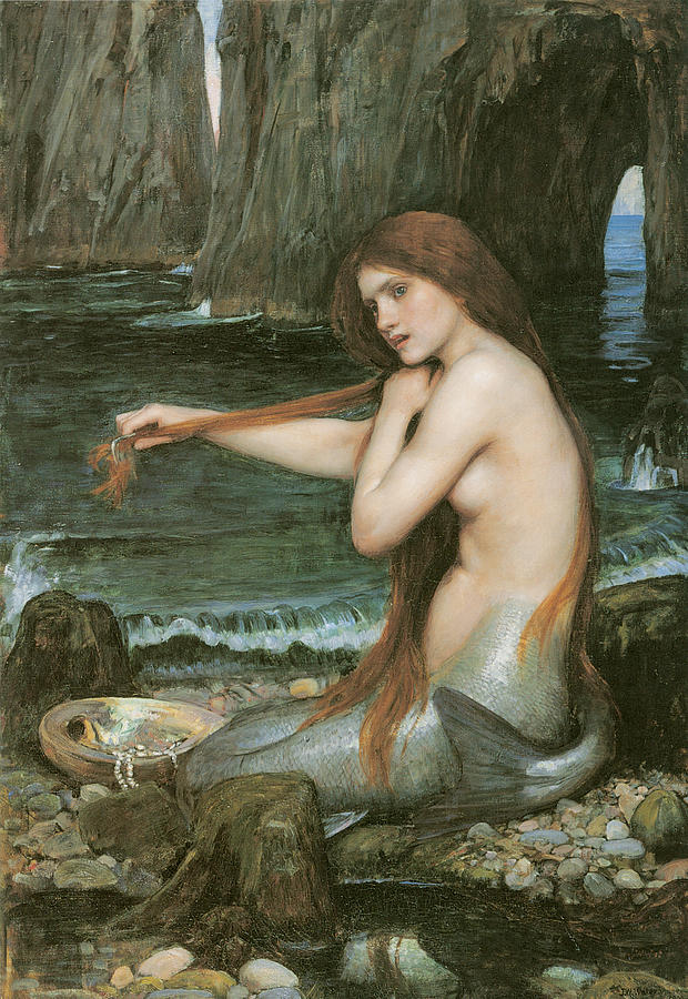 John William Waterhouse Painting - A Mermaid by John William Waterhouse