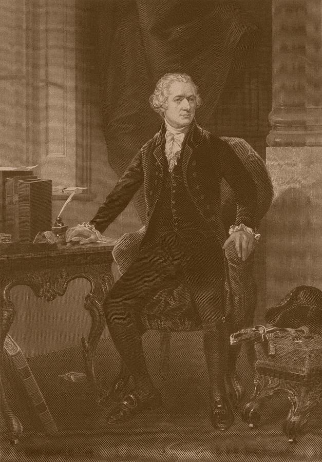 Alexander Hamilton Drawing - Alexander Hamilton by War Is Hell Store