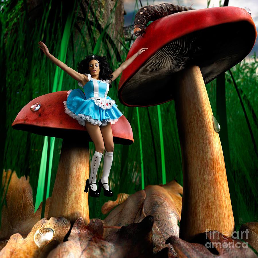 Alice Photograph - Alice In Wonderland by Oleksiy Maksymenko