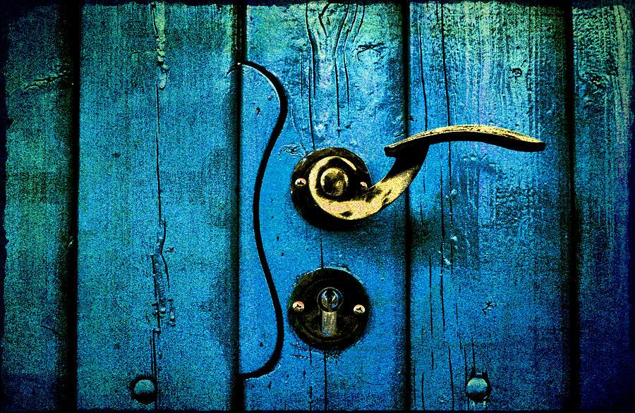 Ancient Blue Door Photograph