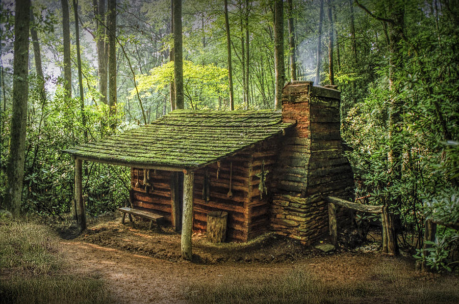 Appalachian Mountain Cabin Photograph By Randall Nyhof