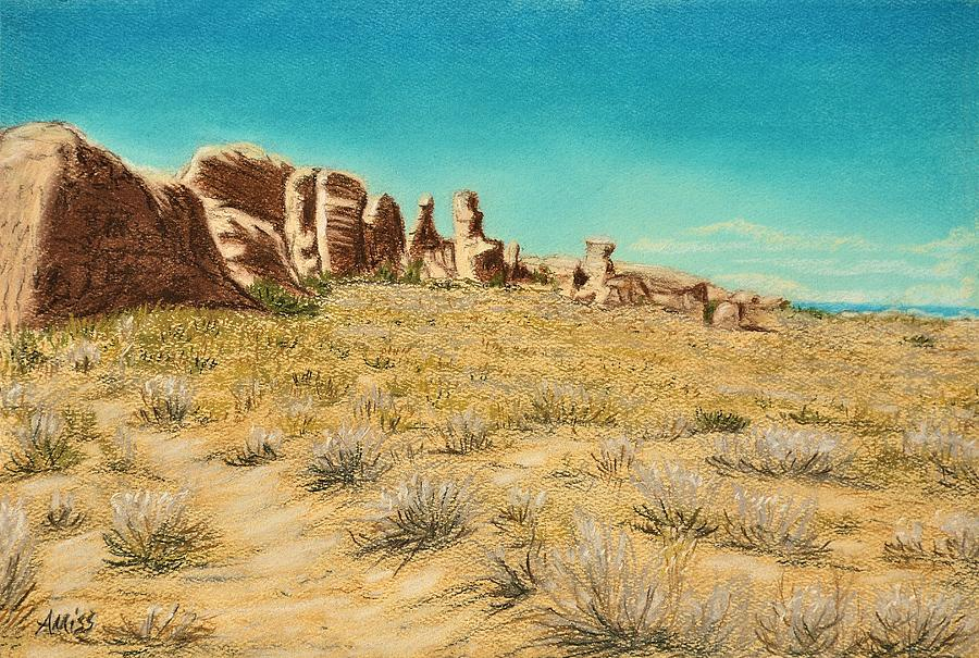 Landscapes Pastel - Arches 2 by Jan Amiss