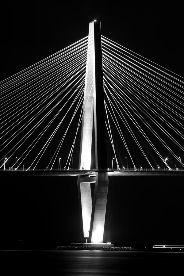 Arthur Ravenel Bridge Jr Charleston South Carolina Lowcountry Cable Stay Dustin Ryan Photograph - Arthur Ravenel Jr. Bridge  by Dustin K Ryan