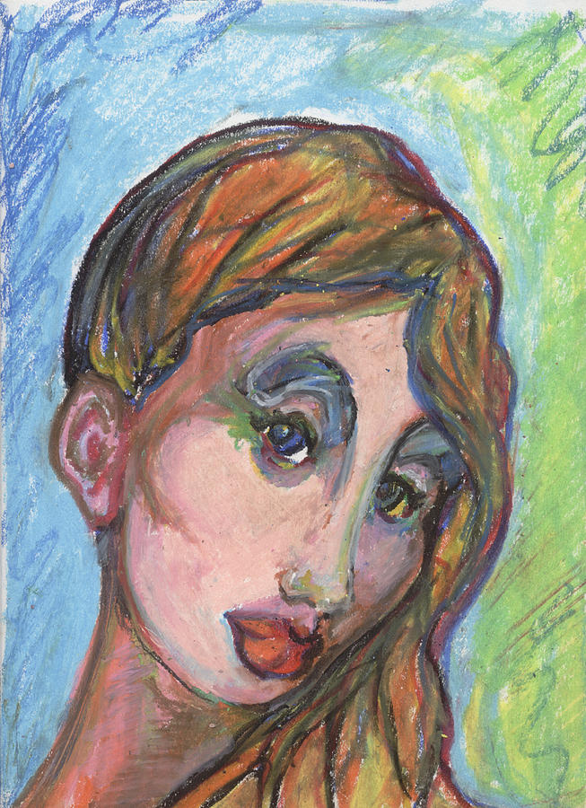Beautiful Art. Canvas For Sale. Pastel Art For Sale. Portraits Of Women Canvas. Portrair Art. Posters Of Women For Sale.  Pastel - Autumn by Derrick Hayes