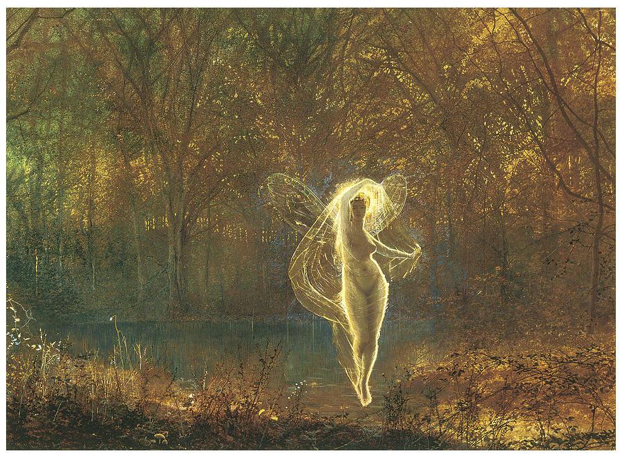 John Atkinson Grimshaw Painting - Autumn by John Atkinson Grimshaw