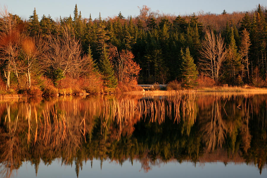 Autumn Lake Photograph