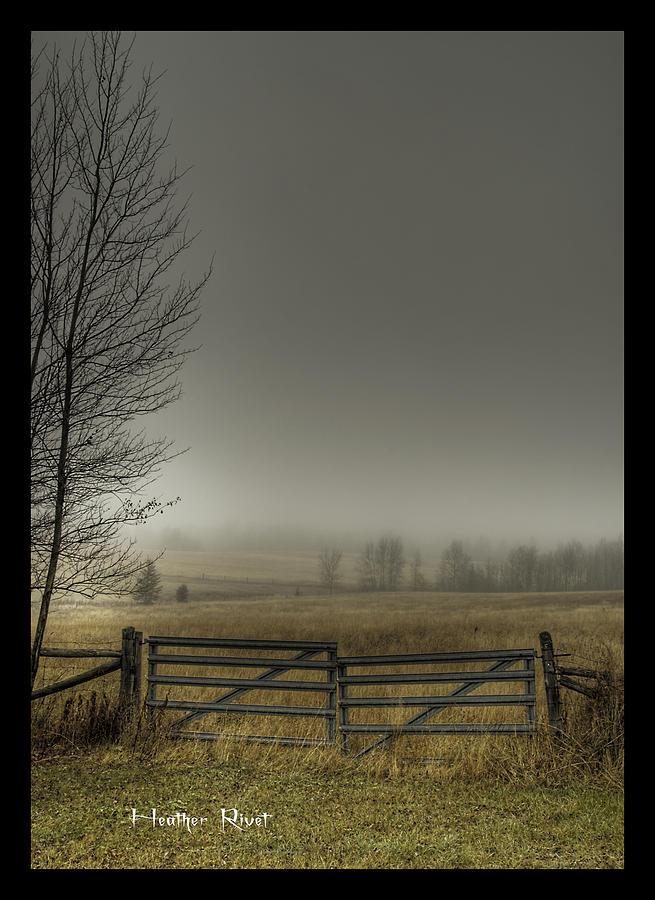 Landscape Photograph - Autumns Pasture by Heather  Rivet