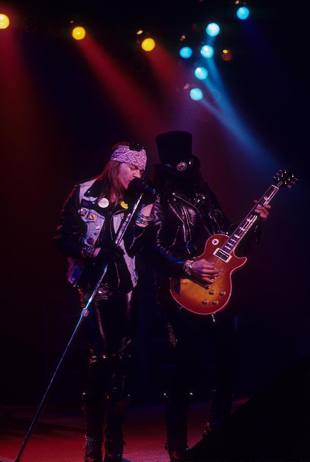 Axl Rose Photograph - Axl Rose And Slash by Rich Fuscia