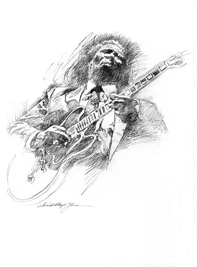 B B King And Lucille Drawing
