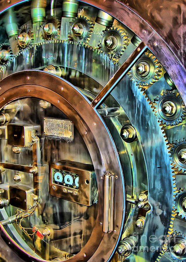 Safe Photograph - Bank Vault Door by Clare VanderVeen