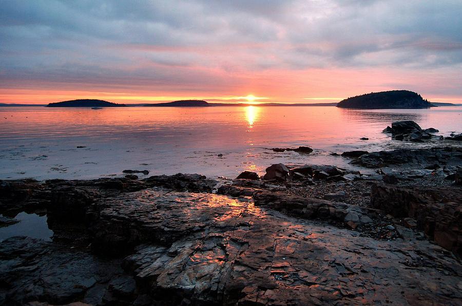 Sunrise Photograph - Bar Harbor Sunrise by Stephen  Vecchiotti