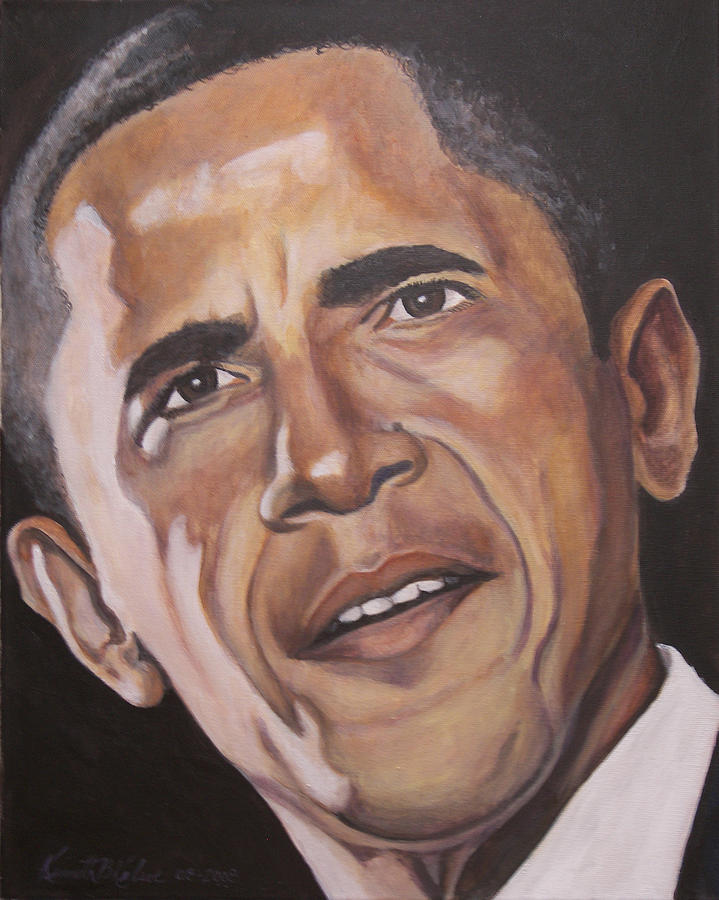 Barack Painting - Barack Obama by Kenneth Kelsoe
