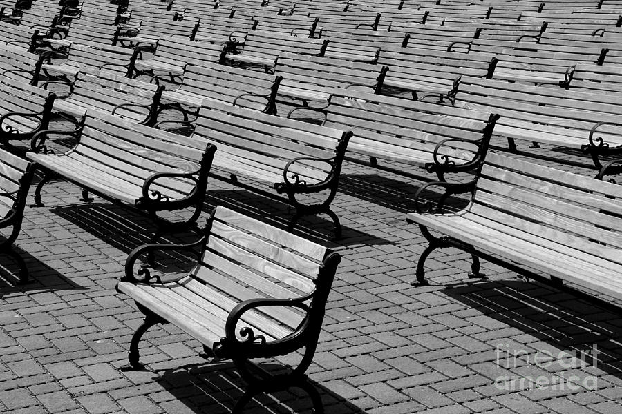 Bench Photograph - Benches by Perry Webster