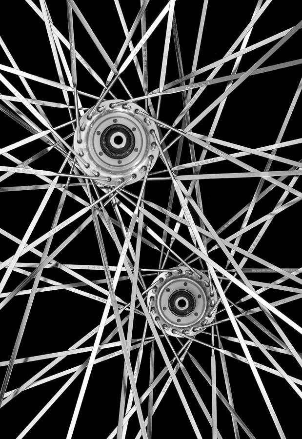 Aluminum Photograph - Bicycle Hubs And Spokes by Jim Hughes