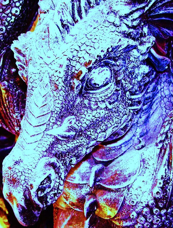 Dinosaur Digital Art - Blue-dragon by Ramon Labusch