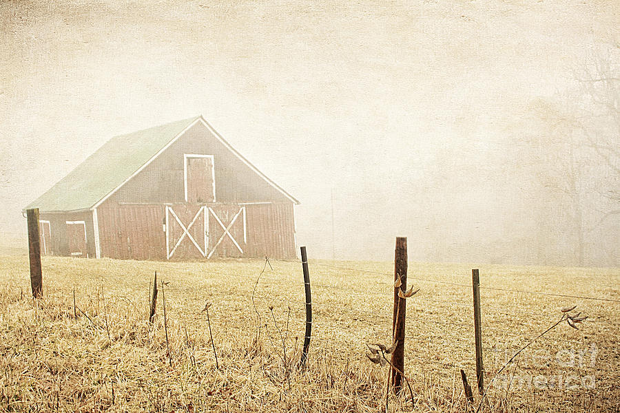 Abandoned Photograph - Blue Ridge Farm by Darren Fisher