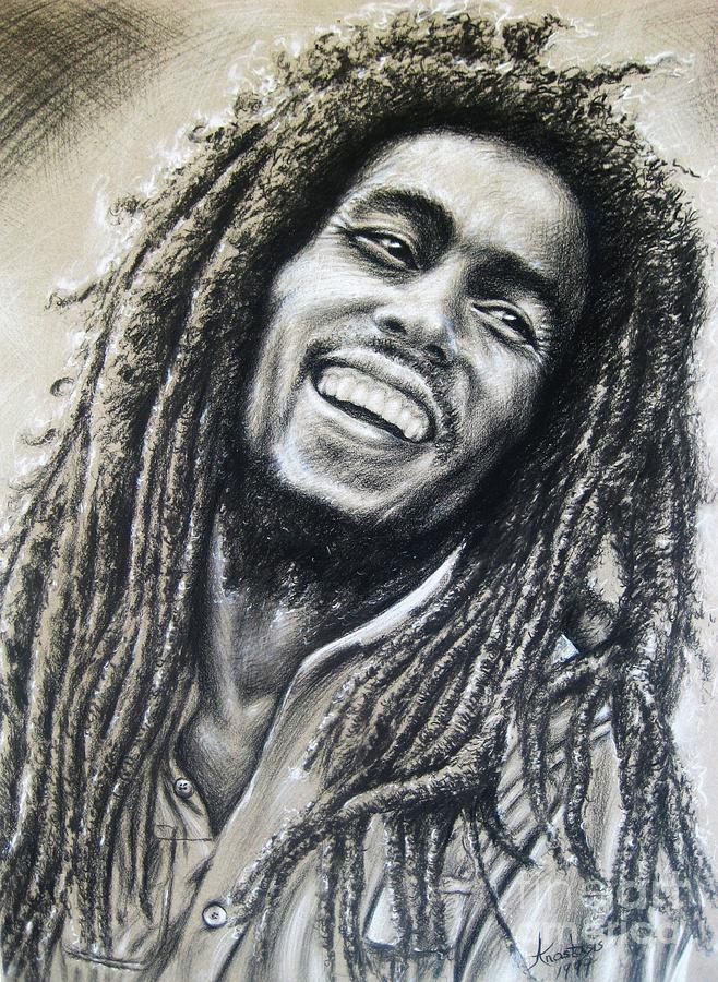The Wailers.robert Nesta Marley Born February 6 Painting - Bob Marley by Anastasis  Anastasi