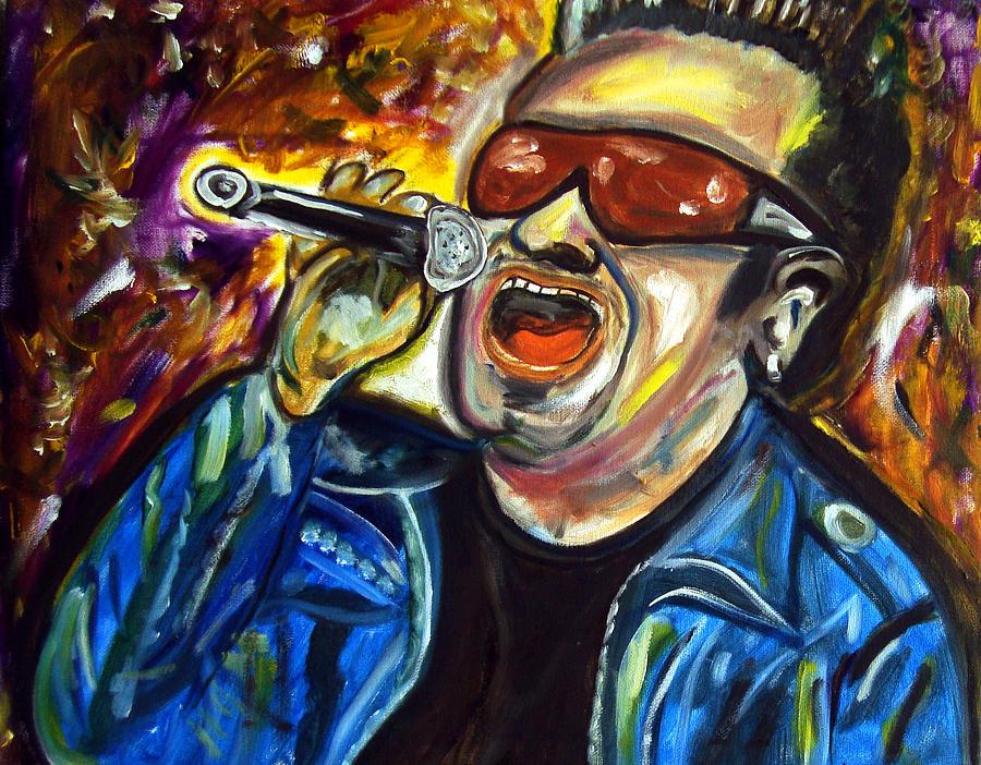 U2 Painting - Bono  by Azalea Millet