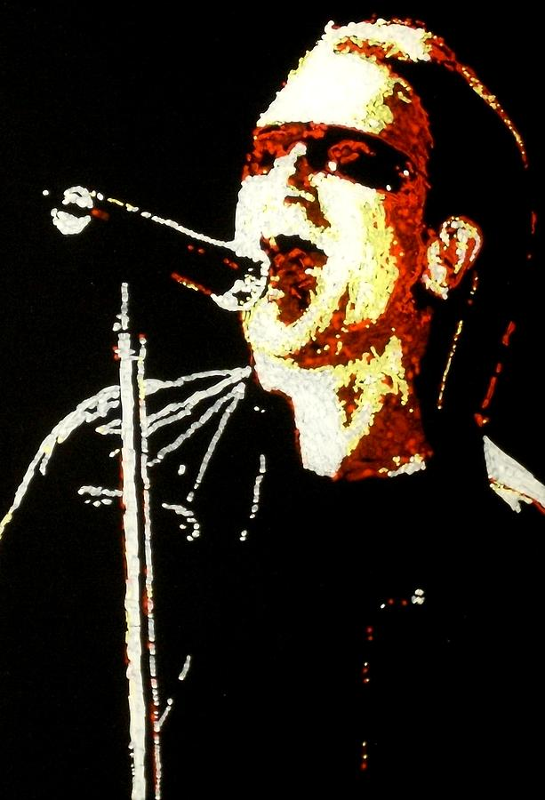 U2 Painting - Bono by Grant Van Driest