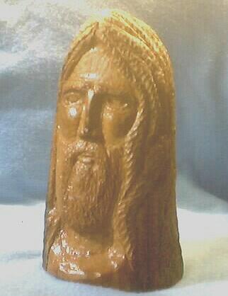 Wood Sculpture - Bust Of Jesus by Thomas Higdon