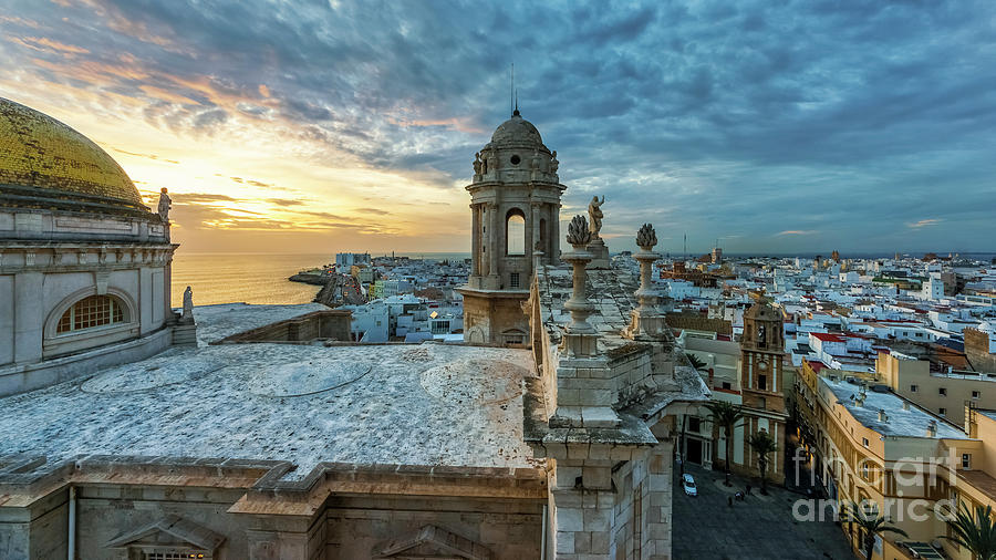 Cadiz Cathedral View From Levante Tower Cadiz Spain Photograph